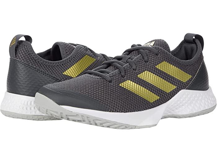 adidas アディダス レディース シューズ 靴 テニス スポーツ ブランド 女性 価格 交渉 送料無料 大きいサイズ ビックサイズ 取寄 Tennis White コート Court Shoes Grey 直送商品 Gold Metallic コントロール Women's Control