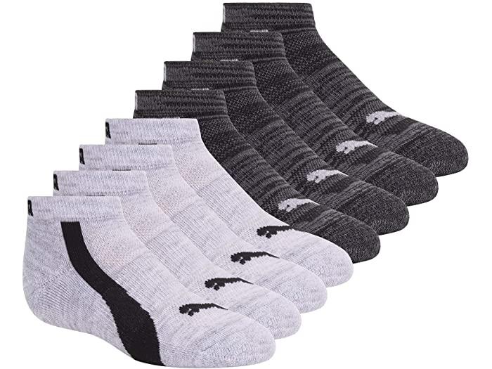 PUMA プーマ キッズ 靴下 ソックス レッグウェア ジュニア ブランド スポーツ ファッション 大きいサイズ 新作送料無料 ビックサイズ 取寄 ロウ White Cut Boy's Grey カット Pack Low ボーイズ 8 パック Socks 出荷