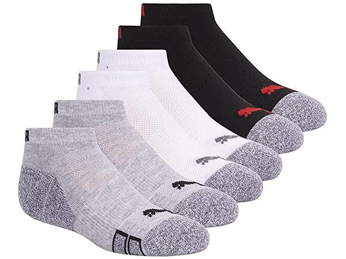 PUMA プーマ キッズ 靴下 ソックス レッグウェア ジュニア ブランド スポーツ ランキングTOP5 ファッション 大きいサイズ ビックサイズ 取寄 定価の67%OFF Pack Grey Cut ボーイズ ロウ Low Socks Boy's Multi パック カット 6