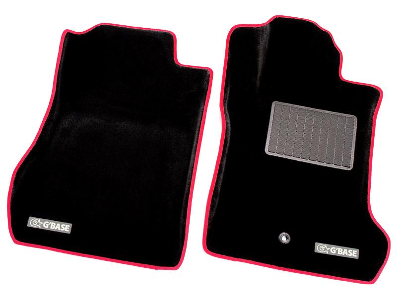 代引不可・G'BASE / ジーベース 3Dフロアマット ホンダ S660 JW5 カーペットタイプ ブラック×レッドステッチ ■ 適合車種:S660(JW5)