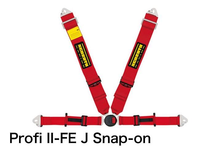 SCHROTH / シュロス レーシングハーネスプッシュボタンバック仕様4点式ハーネス■Profi-II-FE-J-Snap-on