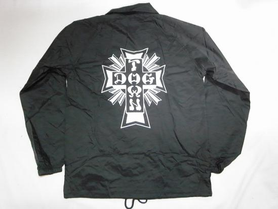 DOGTOWN ドッグタウン クロスロゴ コーチジャケット ブラック 黒