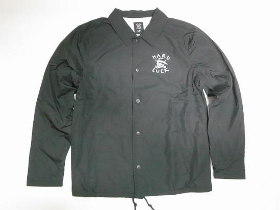 HARDLUCK ハードラック O.G LOGO オリジナルロゴ コーチジャケット 黒 ブラック