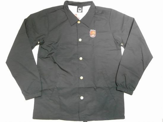 SPITFIRE スピットファイア STK BIGHEAD EMB ワンポイントビッグヘッド刺繍 コーチジャケット 黒 ブラック