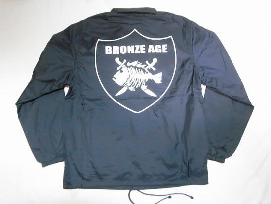 BRONZE AGE ブロンズエイジ RAIDERS FISH レイダースフィッシュ ナイロン コーチジャケット 紺 ネイビー