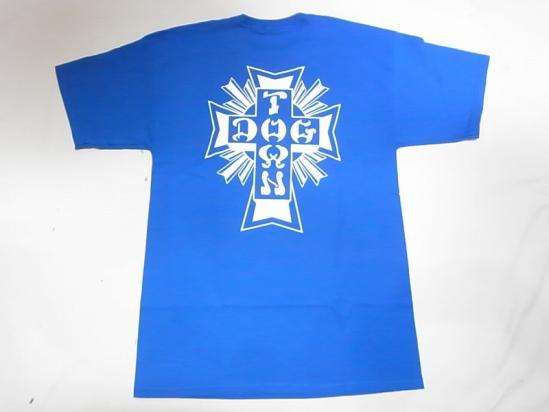 DOGTOWN ドッグタウン DTS CROSS LOGO 売買 Tシャツ 人気激安 定番クロスロゴ 青 ロイヤルブルー
