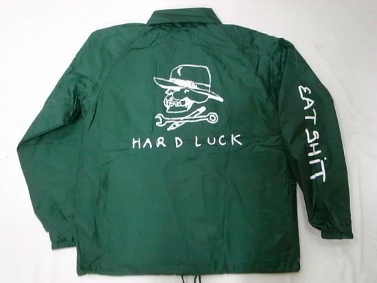 HARDLUCK ハードラック JONNY BEE ジョニービー別注 EATSHITスリーブ コーチジャケット 緑 グリーン