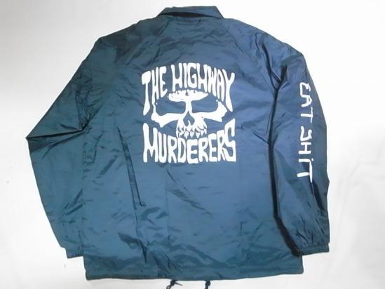 THE HIGHWAY MURDERERS ハイウェイマーダース JONNY BEE ジョニービー別注 EATSHITスリーブ コーチジャケット 紺 ネイビー