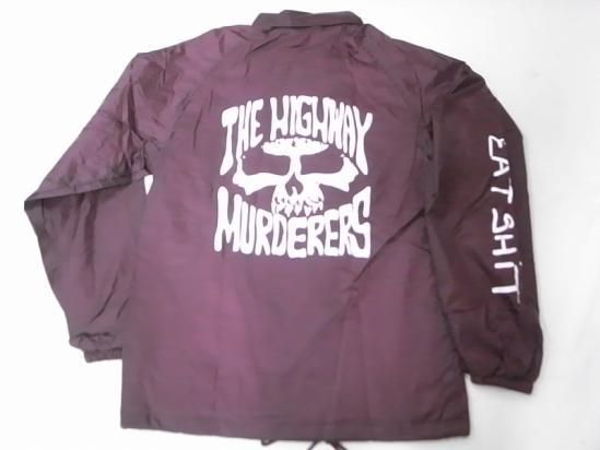 THE HIGHWAY MURDERERS ハイウェイマーダース JONNY BEE ジョニービー別注 EATSHITスリーブ コーチジャケット バーガンディー
