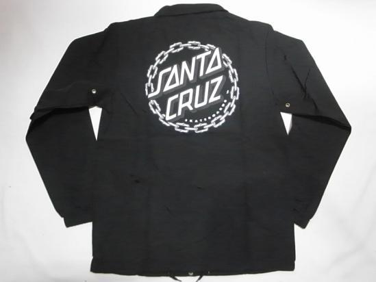 SANTACRUZ サンタクルーズ CHAIN DOT チェーンドット コーチジャケット 黒 ブラック