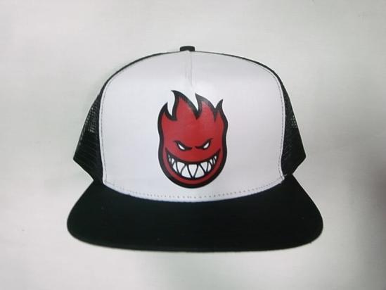SPITFIRE pit fire FILL BIGHEAD big head print trucker mesh cap white x  black x red b35609a3172
