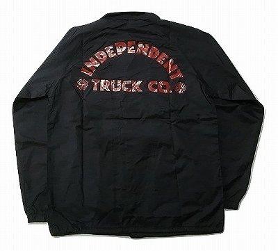 INDEPENDENT インディペンデント ITC BOLD トラックカンパニーロゴ コーチジャケット 黒 ブラック