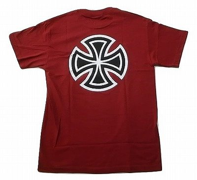INDEPENDENT インディペンデント 贈答品 BAR CROSS 日本全国 送料無料 バークロス RED CARDINAL カーディナルレッド Tシャツ