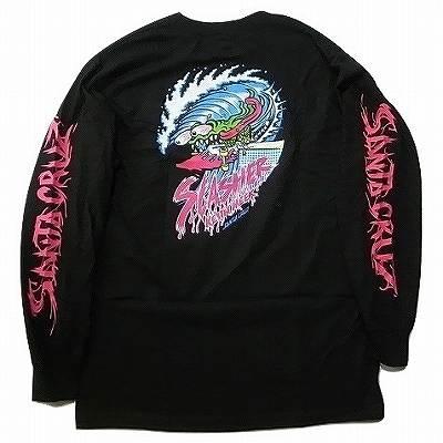 SANTA CRUZ サンタクルーズ WAVE SLASHER ウェーブ スラッシャー ロングスリーブ ロンT BLACK 黒 ブラック