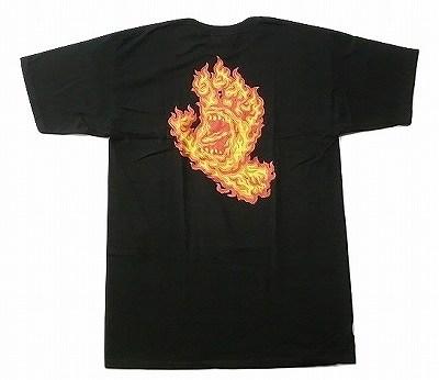 SANTACRUZ サンタクルーズ 『4年保証』 FLAME HAND 安心の実績 高価 買取 強化中 Tシャツ ブラック 黒 フレイムスクリーミングハンド