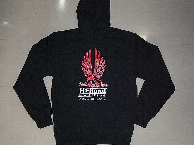 HI-BOND MODIFIED ハイボンドモディファイド イーグル ジップフード パーカー チャコールx赤