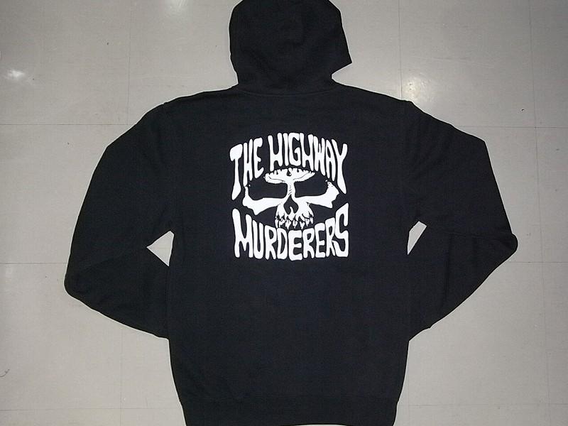 THE HIGHWAY MURDERERS ハイウェイマーダース ジップフード パーカー チャコール