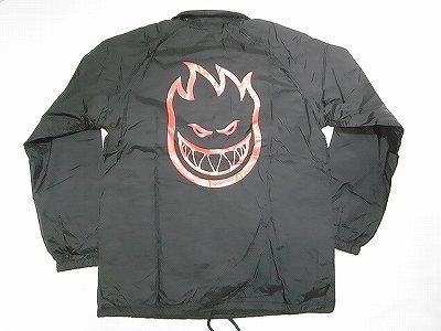SPITFIRE スピットファイア BIGHEAD クラシックビッグヘッド コーチジャケット ブラックxレッド 黒x赤