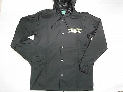 ANTI HERO アンタイヒーロー カラーイーグル HOODED COACH フードコーチジャケット 黒 ブラック
