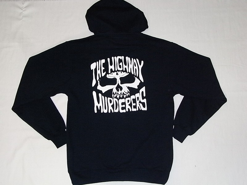 THE HIGHWAY MURDERERS ハイウェイマーダース ジップフード パーカー 紺ネイビー