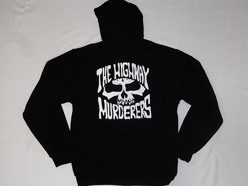 THE HIGHWAY MURDERERS ハイウェイマーダース ジップフード パーカー 黒