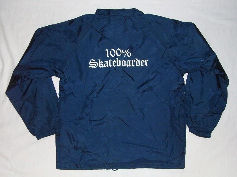 100%SKATEBOARDER ロゴ ナイロンコーチジャケット 紺ネイビー JAY ADAMS ジェイアダムス