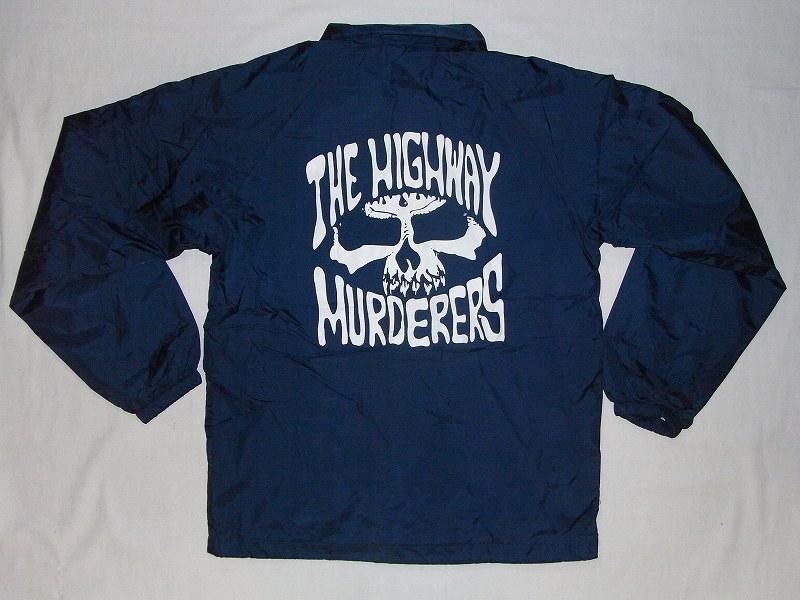 THE HIGHWAY MURDERERS ハイウェイマーダース ロゴ ナイロンコーチジャケット 紺ネイビー