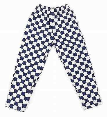 国産品 COOKMAN クックマン CHEF 爆売りセール開催中 PANTS CHECKER NAVY ロング チェッカーパターン イージーパンツ 紺x白 ネイビー