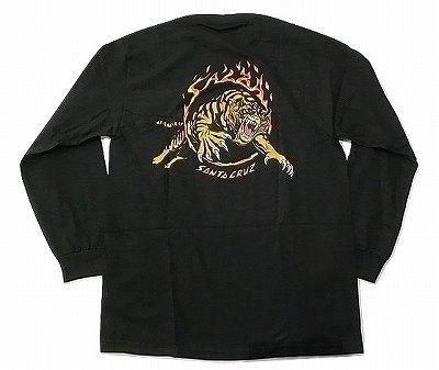 SANTACRUZ サンタクルーズ SALBA TIGER サルバ タイガー ロングスリーブ ロンT 黒 ブラック