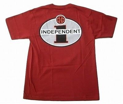 INDEPENDENT TRUCK40周年 インディペンデント I LOGO カーディナルレッド 正規販売店 希望者のみラッピング無料 Tシャツ Iロゴ