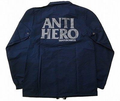 ANTIHERO アンタイヒーロー BLACK HERO REFLECTIVE COACH ブラックヒーロー リフレクティブ コーチジャケット 紺 ネイビー