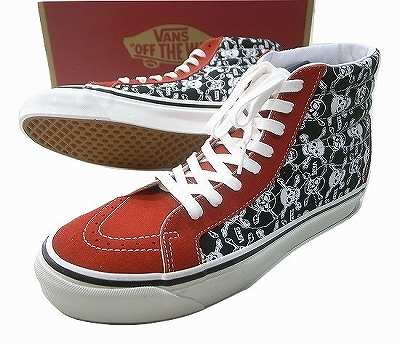 VANS バンズ ANAHEIM FACTORY PACK SK8HI 38 DX SKULL OG RED/BLACK/WHITE オリジナルスカル 黒x白x赤