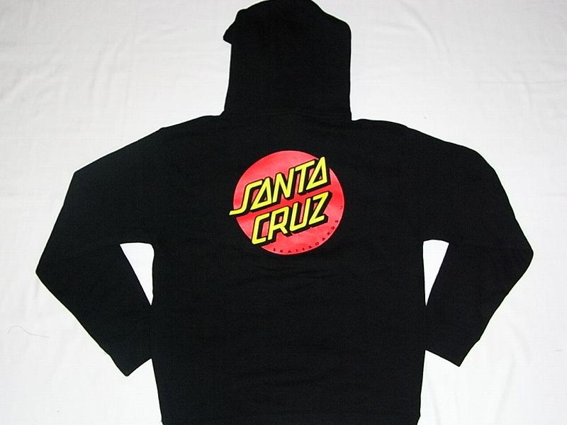 SANTACRUZ サンタクルーズ CLASSIC DOT ドットロゴ プルオーバーフードスウェット パーカー ブラック 黒