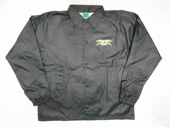 ANTI HERO アンタイヒーロー BASIC EAGLE イーグルプリント コーチジャケット ブラック 黒x黄