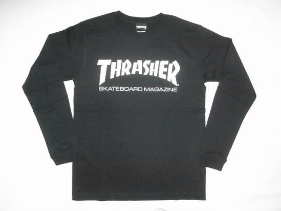 6dc88235b THRASHER Thrasher MAG logo long sleeve T shirt Ron T Black Black x White ...
