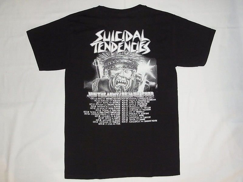 SUICIDALTENDENCIES スーサイダルテンデンシーズ JOIN THE ARMY DEJA 商品 黒 TOUR 今ダケ送料無料 VU ワールドツアーTシャツ