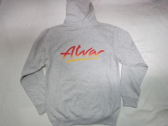 ALVA トニーアルバ TONY ALVA O.G LOGO オリジナルロゴ ZIP HOOD ジップパーカー アッシュグレー 灰xフェード