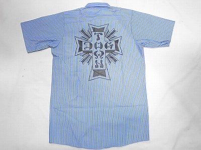 DOGTOWN ドッグタウン REDKAP ストライプ ワークシャツ ブルー
