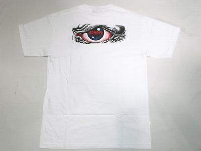 好評 SANTACRUZ サンタクルーズ ROB 日本正規代理店品 EYE Tシャツ ロブアイ 白