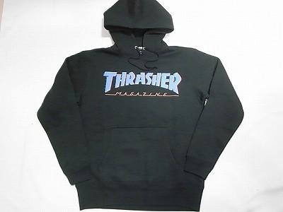THRASHER スラッシャー BAR MAG LOGO スピード バーマグロゴ プルオーバーフードスウェット パーカー 黒 ブラック