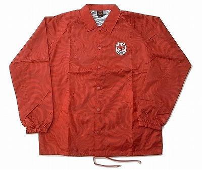 SPITFIRE スピットファイア STOCK BIGHEAD SWIRL SPECIALITY COACH コーチジャケット 赤 レッド