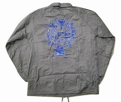 DOGTOWN ドッグタウン 定番クロスロゴ コーチジャケット SILVER グレーxブルー