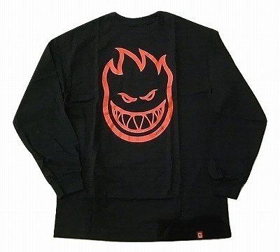 SPITFIRE スピットファイア BIGHEAD 卸売り ビッグヘッド 買取 ロングスリーブTシャツ 黒x赤 ロンT