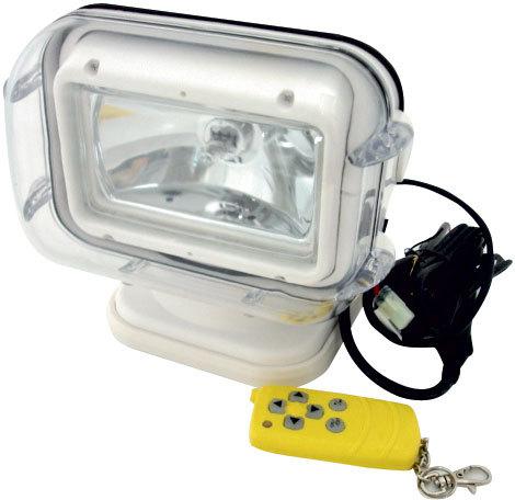 【 送料無料 】  防水リモートコントロールサーチライト  ケーブルなしのワイヤレスで簡単リモコン操作 遠隔操作可能 小型ボート プレジャーボート