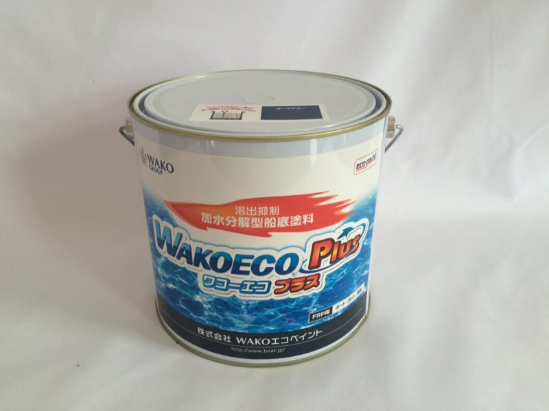 【 送料無料 】 船底塗料 ワコーエコ プラス 溶出抑制 加水分解型船底塗料 4kg FRP用 ボート ヨット 漁船 WAKO ECO PlUS 亜酸化銅配合タイプ