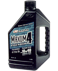 MAXUM 4 PREMIUM マクスム4プレミアム 【 4ストローク 10W40 1L×12本 】 MX-4401 MAXIMA エンジンオイルマキシマ