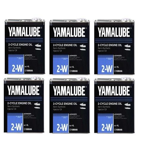 YAMAHA ヤマハ マリン エンジンオイル 純正 YAMALUBE 2W 2ストローク 4L×6本 ケース 90790-70424 正規品 GENUINE