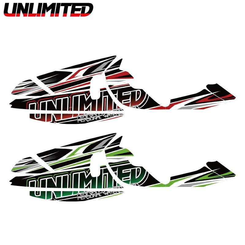 ULDK-800X2UMF UNLIMITED デカールキット 800X-2 レーシングフード用 ジェットスキー 水上オートバイ JETSKI PWC アンリミテッド