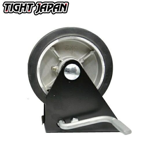 TIGHTJAPAN スチール ストッパー トレーラージャッキ 用 タイヤ&ベース 0702-01 タイトジャパン ボートトレーラ トレーラー部品