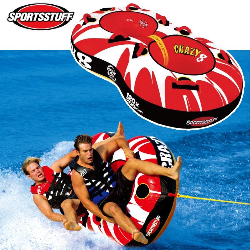 スポーツスタッフ CRAZY 8 クレイジーエイト ゴムボート 22845 縦横牽引OK ウォータートーイ バナナボート トーイングチューブ ジェットスキー